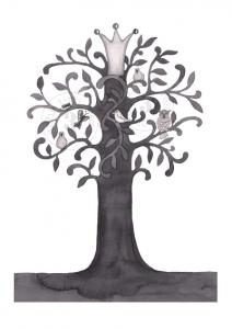 A3 svart trädstämpel hemsida